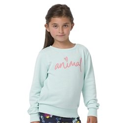 Animal Mila Girls Sweatshirt - Misty Green