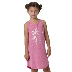 Animal Coco Girls Dress - Raspberry Rose Pink Marl