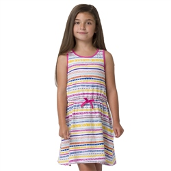 Animal Luckee Girls Dress - White