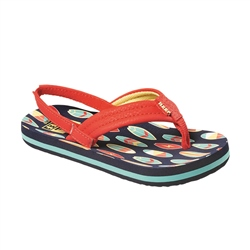 Reef Little Ahi Flip Flops - Red Surfer