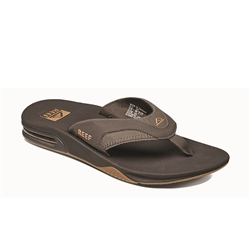 Reef Fanning Flip Flops - Brown & Gum