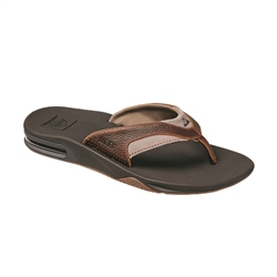 Reef Leather Fanning Flip Flops - Brown