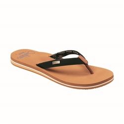 Reef Cushion Sands Flip Flops - Black & Tan