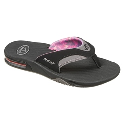 Reef Fanning Flip Flops - Black & Grey