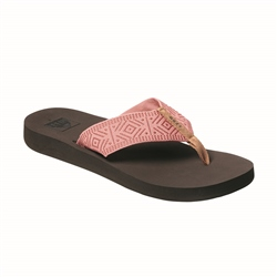 Reef Spring Woven Flip Flops - Coral