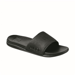 Reef Womens One Slide Flip Flops - Black