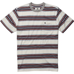 Vissla Valley Pocket T-Shirt - White Stripe
