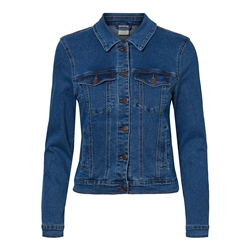 Vero Moda Hot Soya Denim Jacket - Medium Blue Denim