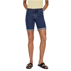 Vero Moda Hot Seven Long Shorts - Medium Blue Denim