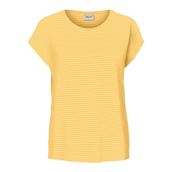 Vero Moda Ava Plain T-Shirt - Banana Cream