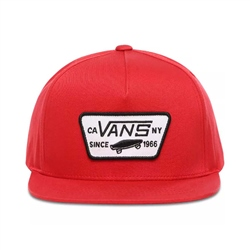 Vans Full Patch Snapback Boys Cap - Racing Red
