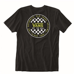 Vans Checker Boys T-Shirt - Black & Sulphur Spring