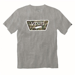 Vans Full Patch Fill Boys T-Shirt - Athletic Heather & Dino Camo