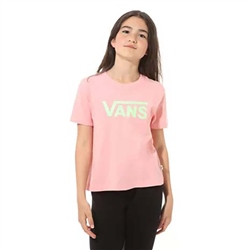 Vans Flying V Girls Boxy T-Shirt - Pink Icing