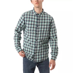 Vans Alameda II Shirt - Dusty Jade Green & Frost Grey