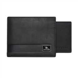 Rip Curl Section Leather Wallet - Black