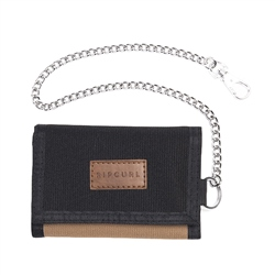 Rip Curl Surf Chain Wallet - Black & Tan