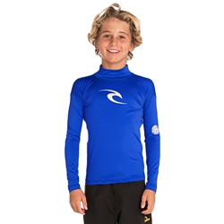 Rip Curl Long Sleeved Corpo Rash Vest - Blue