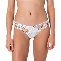 Rip Curl Playa Blanca Ruched Cheeky Bikini Bottoms - White