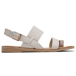 Toms Freya Sandal - Off White & Rose Gold