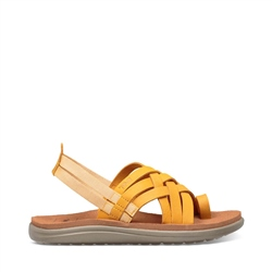 Teva Voya Strappy Leather Sandal - Sunflower