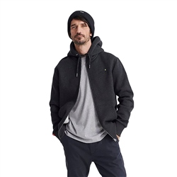 Superdry Orange Label Zip Hoody - Dark Granite Texture