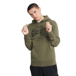 Superdry VL Shirt Shop Bonded Hoody - Chive