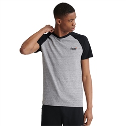 Superdry OL Classic Baseball T-Shirt - Dark Grey Grit
