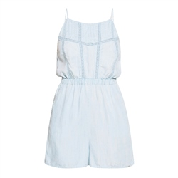 Superdry Indie Lace Cami Playsuit - Indigo light