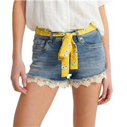 Superdry Lace Hot Short - Summer House Blue