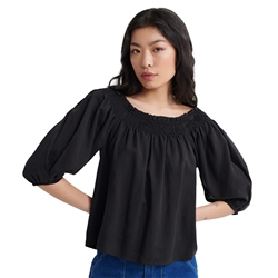 Superdry Desert Off Shoulder Top - Black