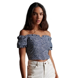 Superdry Quincy Summer Top - Navy