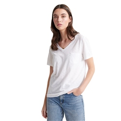Superdry OL Essential Vee T-Shirt - White