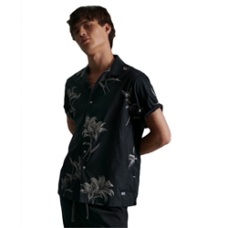 Superdry Hawaiian Box Shirt - Venice Flower Black