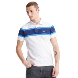 Superdry Malibu Stripe Polo - White Stripe