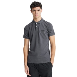 Superdry Vintage Destroyed Pique Polo - Vintage Black