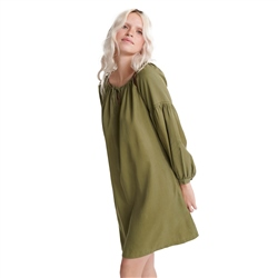 Superdry Arizona Peek A Boo Dress - Capulet Olive