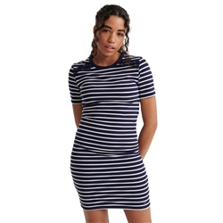 Superdry Eden Lace Mix Dress - Navy Stripe