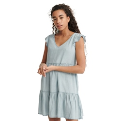 Superdry Tinsley Tiered Dress - Indigo Light