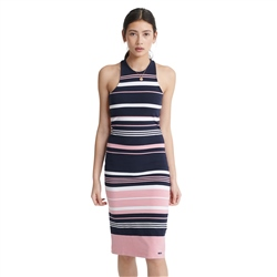 Superdry Verigated Stripe Midi Dress - Soft Pink
