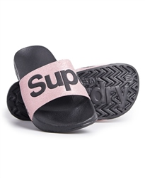 Superdry Superdry Pool Slide Flip Flop - Rose Gold