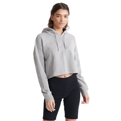 Superdry Valley Crop Hoody - Grey Marl