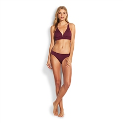 Seafolly Quilted Tri Bikini Top - Boysenberry