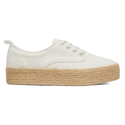 Roxy Shaka Jute Shoes - White