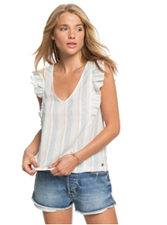 Roxy Gone Tomorrow Top - White & Blue
