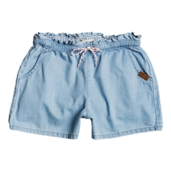 Roxy Right Here Denim Shorts - Light Blue