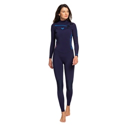 Roxy Syncro 4/3mm Wetsuit - Blue & Coral