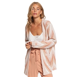 Roxy Soul Searching Cardigan - Peach Blush
