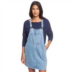 Roxy Early Evening Denim Dress - Light Blue