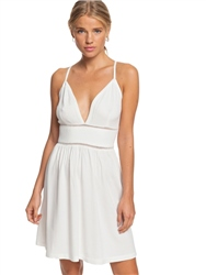 Roxy New Silver Dress - White